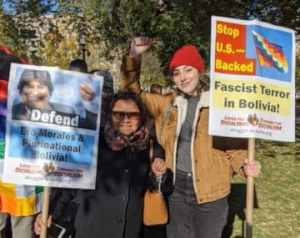 Indigenous Bolivians, supporters counter right-wing lies outside White House