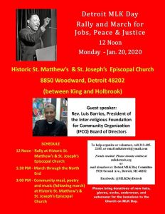 Jan. 20: 17th Annual Detroit MLK Day Rally & March