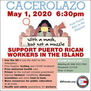 May Day Cacelorazo from Puerto Rico to the Diaspora