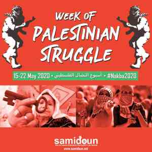 Call to action! Week of Palestinian struggle, 15-22 May 2020