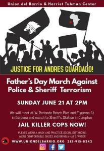 Los Angeles: Justice for Andres Guardado! Father's Day march against police terror