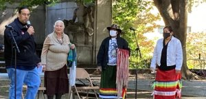 Indigenous Peoples Day demonstration at Malcolm X Park in Washington