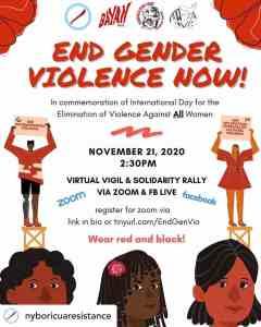 End Gender Violence Now! Nov. 21