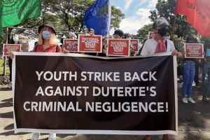 Three typhoons rock the Philippines, militant students strike