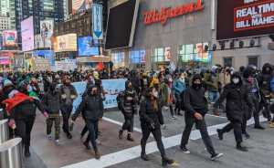 Protesters say 'Proud Boys out of New York!'