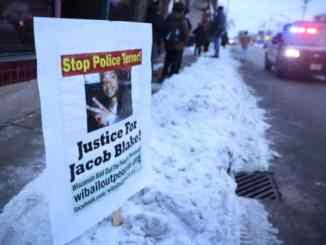 Demonstrations began in Kenosha, Wis., after Jacob Blake had been shot at seven times by policeman Rusten Sheskey on Aug. 23.