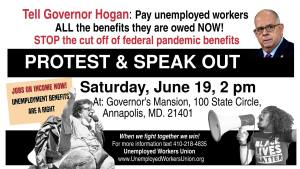 Maryland rally & speakout: Tell Gov. Hogan to pay unemployed workers their benefits