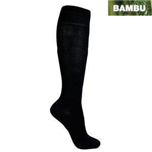 svarta stödstrumpor av bambu