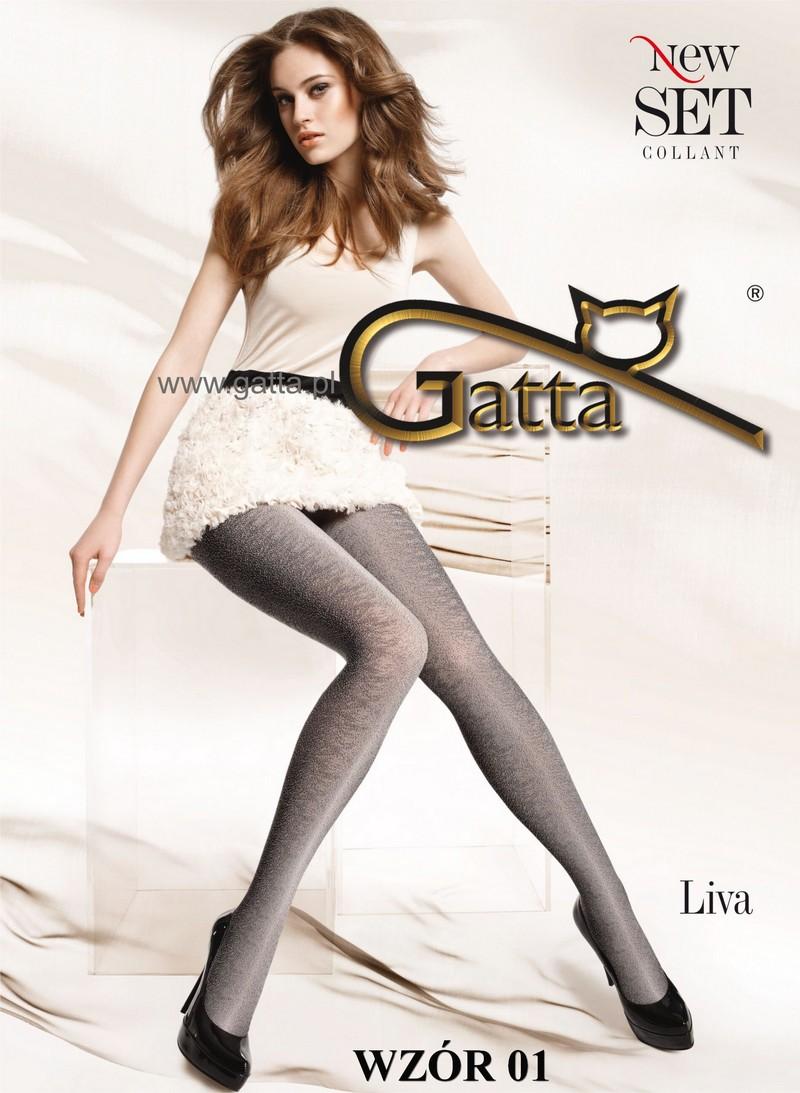 Gatta Blickdichte Strumpfhose mit Muster Liva