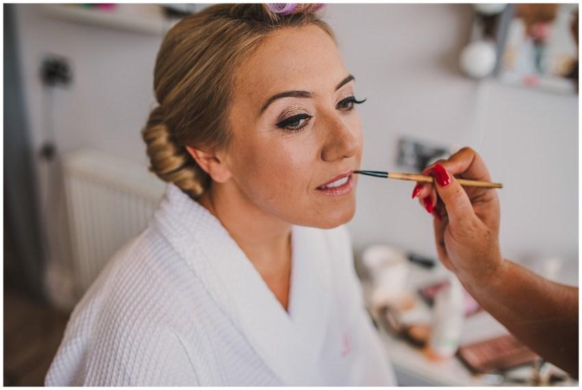 Warren Farm Wedding - Bride Make Up