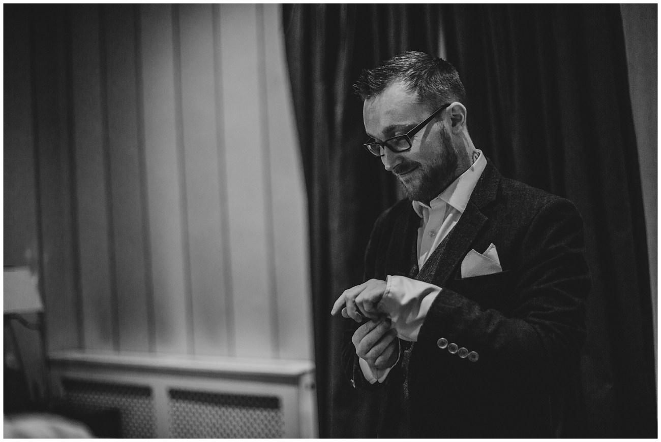 groom preparing