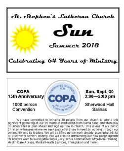 Summer 2018 Newsletter Cover Page