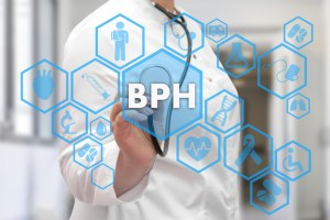 doctor writing BPH