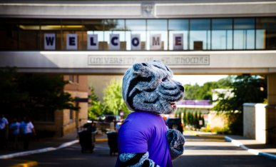 Tommie was everywhere on move-in day.