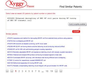 Xyggy patent search