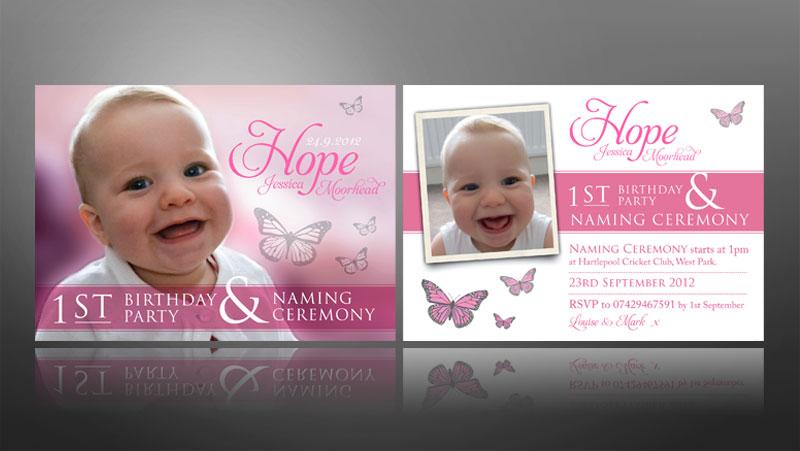 Creative christening invite designs thank you cards for wedding 1st birthday christeningnaming ceremony invite stopboris Gallery