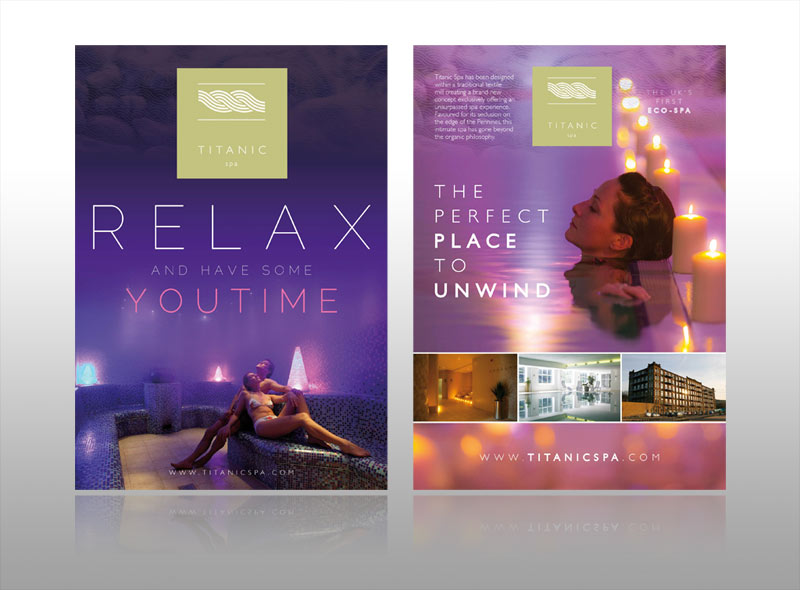 Spa leaflet design for a boutique hotel