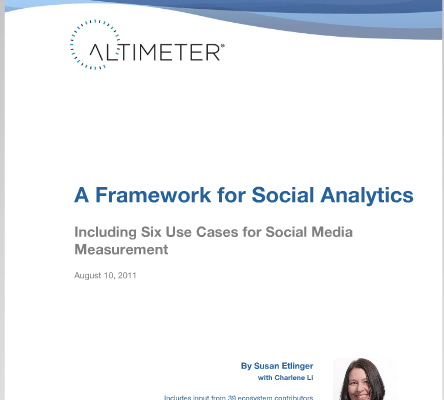 A Framework for Social Analytics research report 1