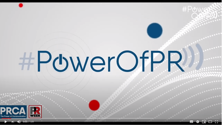 #PowerOfPR video grab