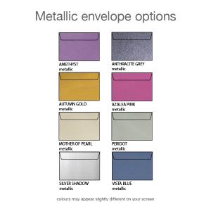 metallic envelope options