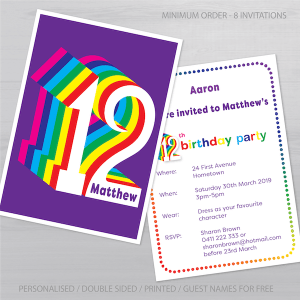 12th birthday invitation inv012 display new