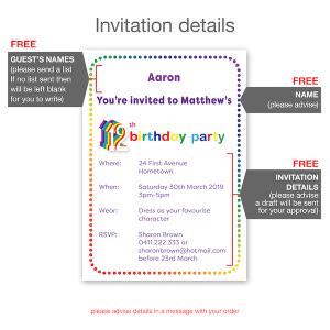 12th birthday invitation inv012 invite details new