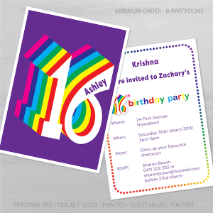 16th birthday invitation inv016 display new