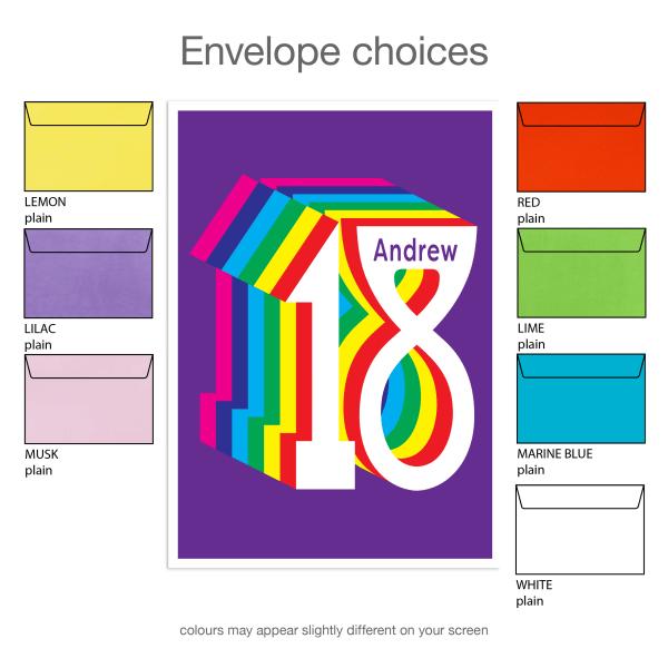 18th birthday invitation inv018 envelope choices new