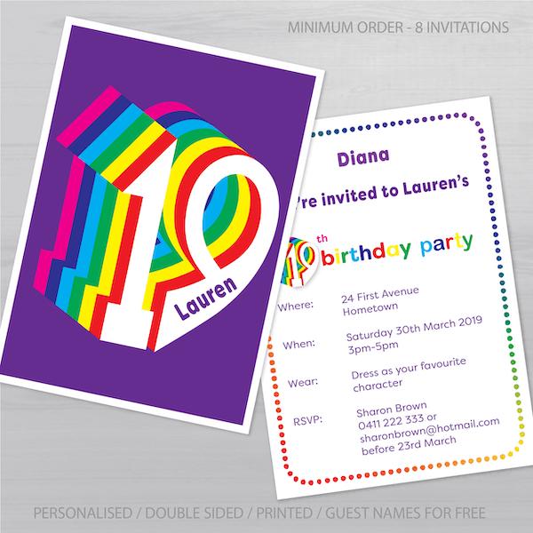19th birthday invitation inv019 display new