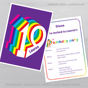 19th birthday invitation inv019 display new
