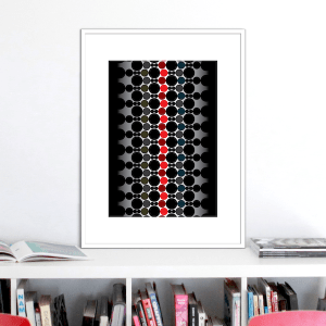 red spine print stuartconcepts p0036 white frame