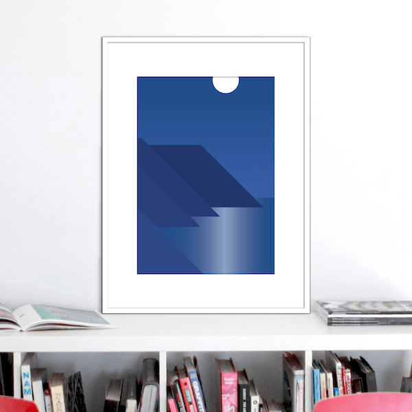 moonlight coast print stuartconcepts p0039 white frame