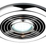 Hib Turbo Chrome Timer Bathroom Ceiling Fan With Cool Light