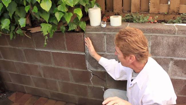 Repair a structural crack in cinder block wall,  just an explanation