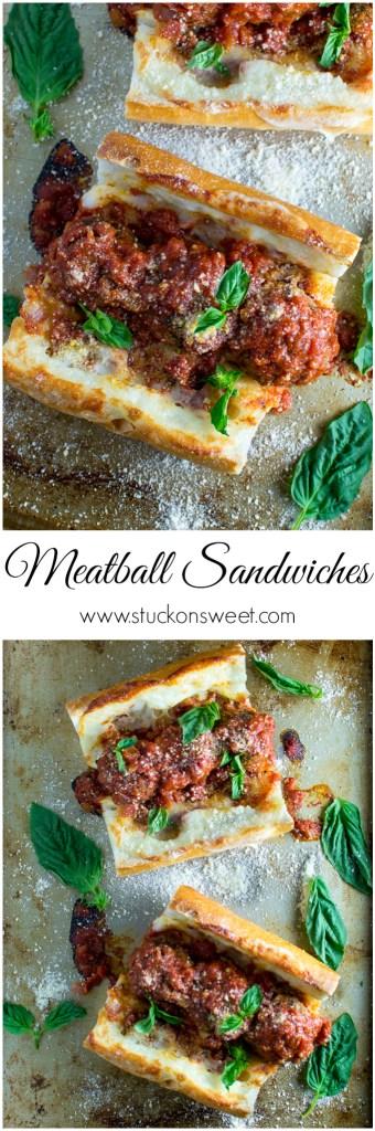 Meatball Sandwiches | www.stuckonsweet.com