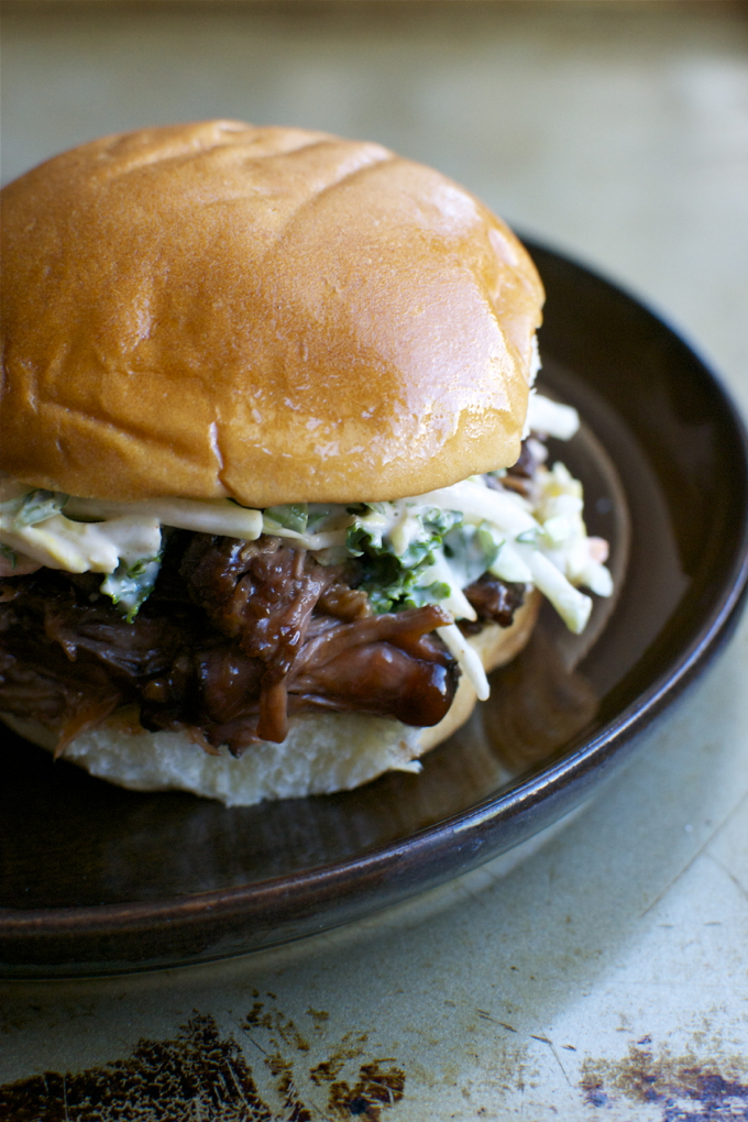 Slow Cooker Barbecue Beef Sandwiches | www.stuckonsweet.com