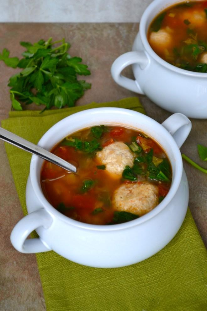 Turkey Meatball Soup 1