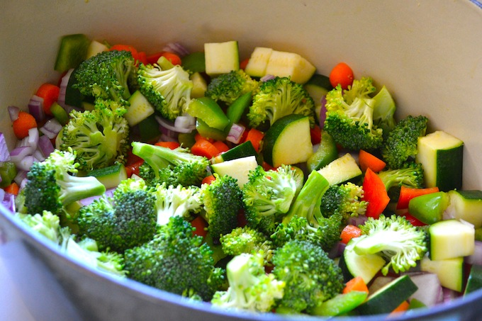 Vegetables for pasta primavera recipe