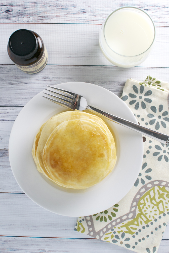 Homemade Vanilla Pancakes - stuckonsweet.com