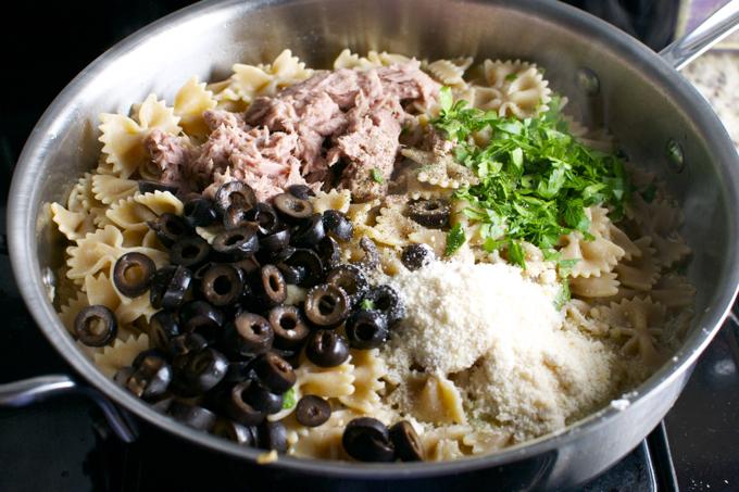 Tuna and Olive Pasta 7