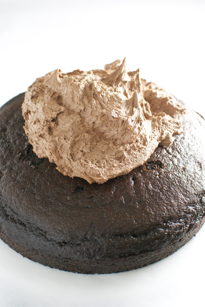 Chocolate Cake with Chocolate Buttercream Frosting 4