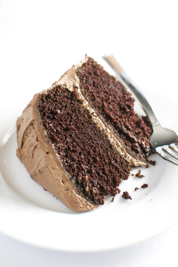 Chocolate Cake with Chocolate Buttercream Frosting 6