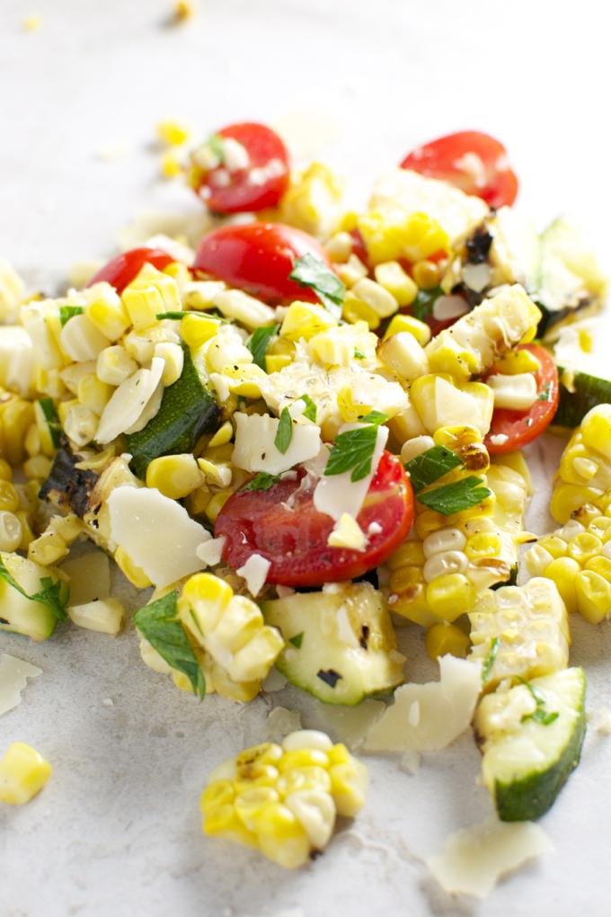 Grilled Corn and Zucchini Salad 1