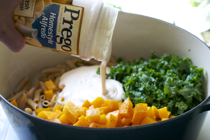 Butternut Squash and Kale Pasta Bake 5