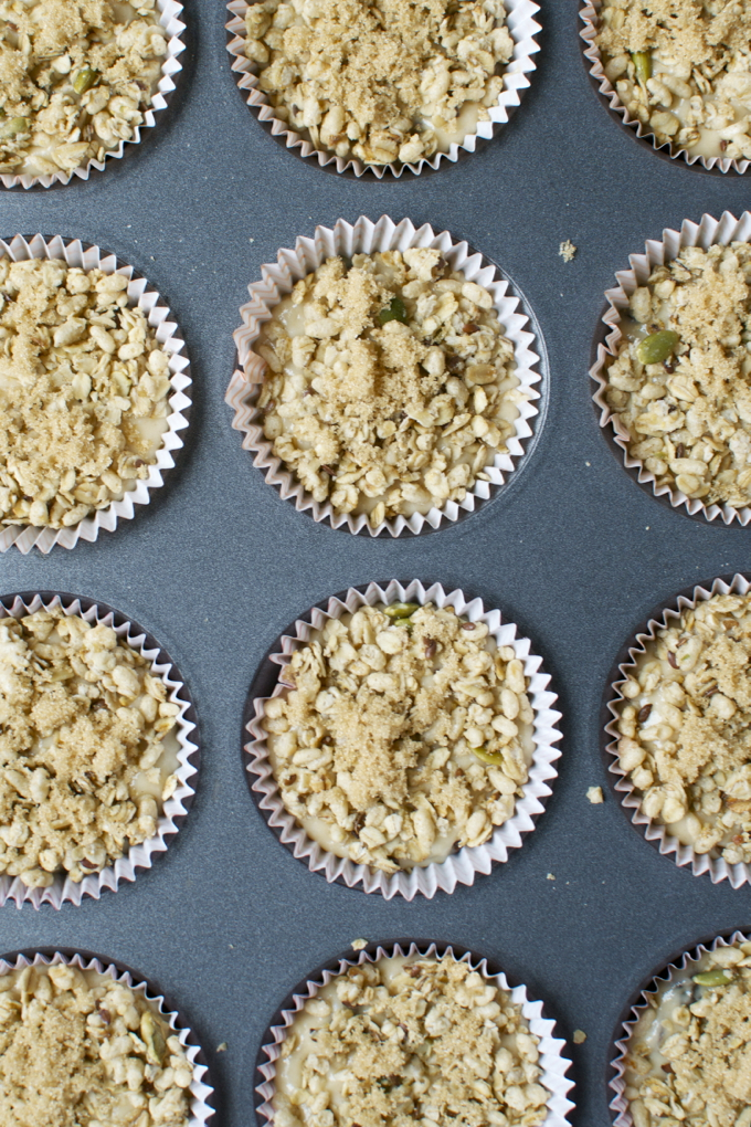 Brown Sugar Raisin Muffins with Pumpkin Granola Crumble 2