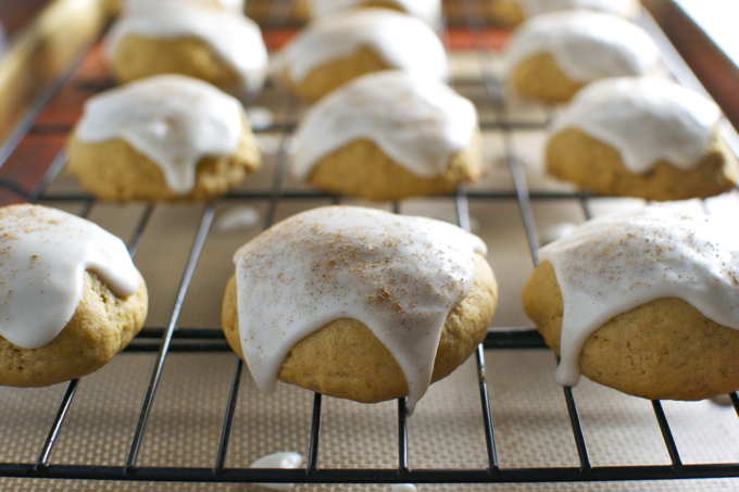 Soft Pumpkin Cookies with Maple Glaze 5
