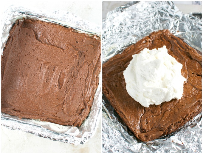 Brownies with Coconut Buttercream Frosting | stuckonsweet.com