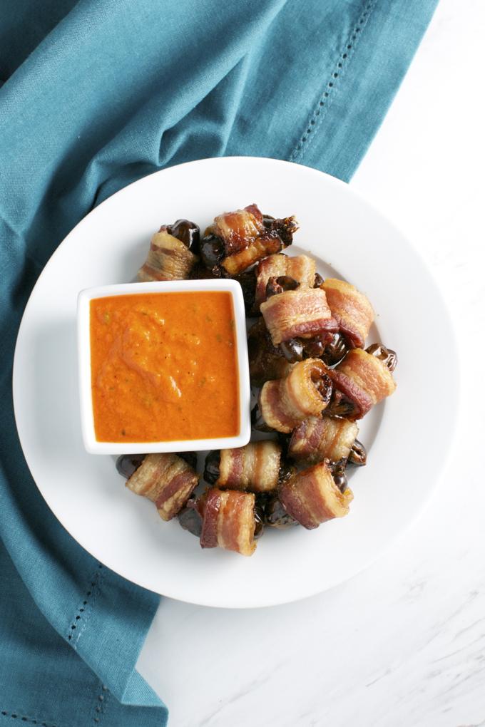 Bacon Wrapped Dates | www.stuckonsweet.com