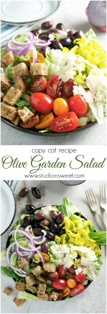 Copy Cat Olive Garden Salad | www.stuckonsweet.com