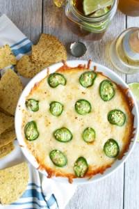 Zesty Refried Bean and Cheese Dip | www.stuckonsweet.com
